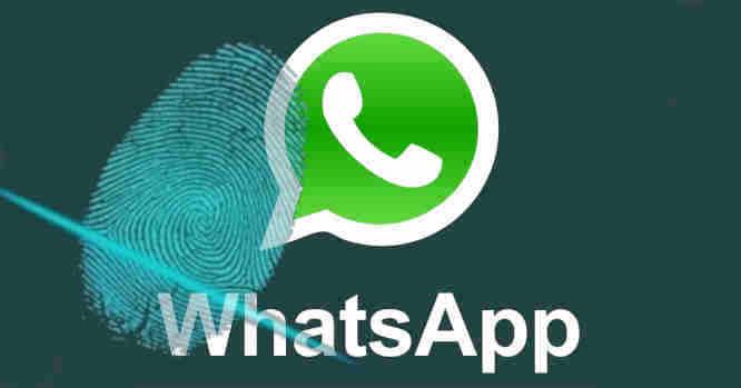 WhatsApp su pirštų antspaudu