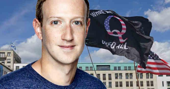 Markas Zuckerbergas ir QAnon