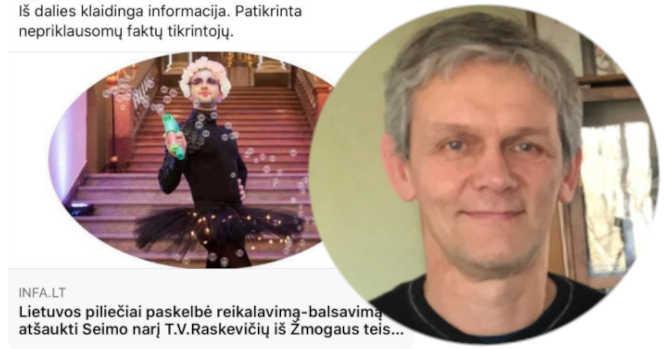 Arvydas Daunys ir T.V.Raskevičius su suknele pasirengęs šokiui