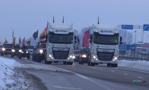 Vasario 16-osios autožygis Vilniuje – vaizdo įrašas, nuotraukos