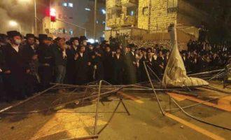 Žydai ortodoksai surengė pogromą Jeruzalės merijoje
