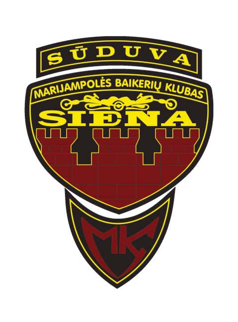Marijampolės baikerių klubo Siena herbas
