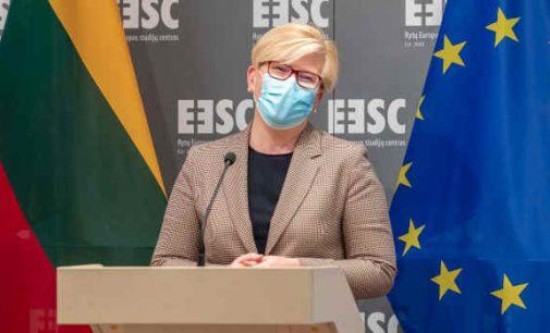 I. Šimonytė pasveikino lietuvius ir pavadino juos Europos Sąjungos piliečiais