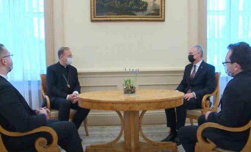Prezidentas G. Nausėda susitiko su krikščioniškųjų bendrijų vadovais