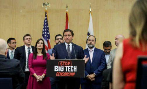 Floridos gubernatorius DeSantis pasirašė įstatymą užkardijantį didžiųjų technologijų gigantų cenzūrą