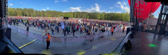 Didysis Šeimos Gynimo Maršas 2021 - vaizdas nuo scenos
