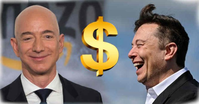 Jeff Bezos ir Elon Musk