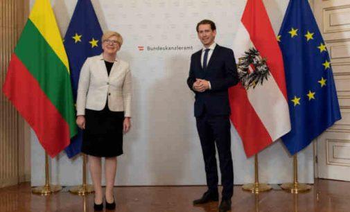 Susitikimo su Austrijos kancleriu metu I. Šimonytei ypač kelia nerimą akivaizdūs kankinimai Baltarusijoje