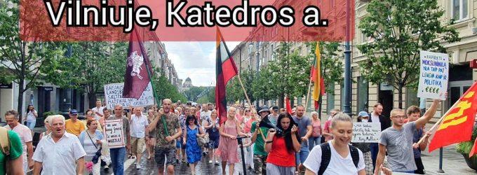 """Šeštadienį protesto akcija Vilniuje: """"Stop Šimonytės Vyriausybės represijoms prieš Lietuvos žmones!"""""""