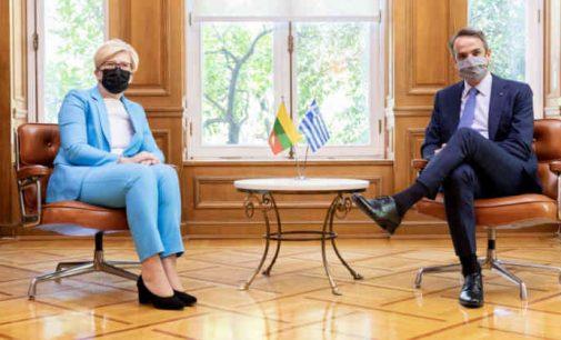 I. Šimonytė su Graikijos premjeru aptarė nelegalios migracijos klausimus