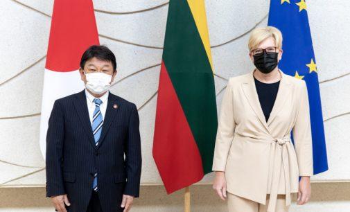 I.Šimonytė su Japonijos URM vadovu aptarė santykių stiprinimo galimybes. Lietuvos URM vadovas G. Landsbergis – nedalyvavo