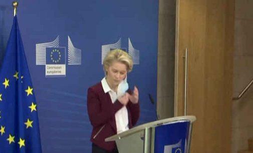 ES gavo pakankamai vakcinų, kad jau liepą paskiepytų 70% Europos Sąjungos gyventojų pareiškė Ursula von der Leyen