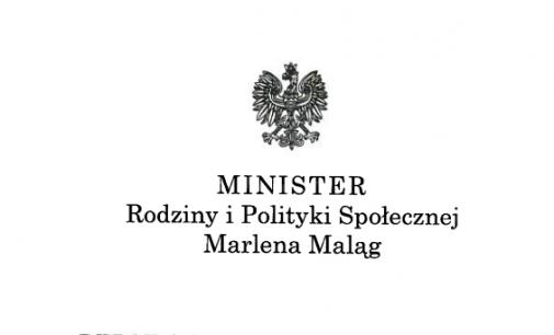 Lenkijos Šeimos ir socialinės politikos ministrės palaikymo laiškas Lietuvos Šeimų Sąjūdžiui