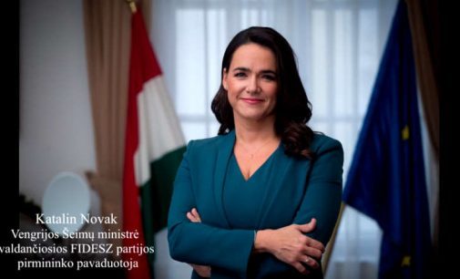 Vengrijos Šeimų ministrės Katalin Novak sveikinimas rugsėjo 10 d mitingo dalyviams ir organizatoriams