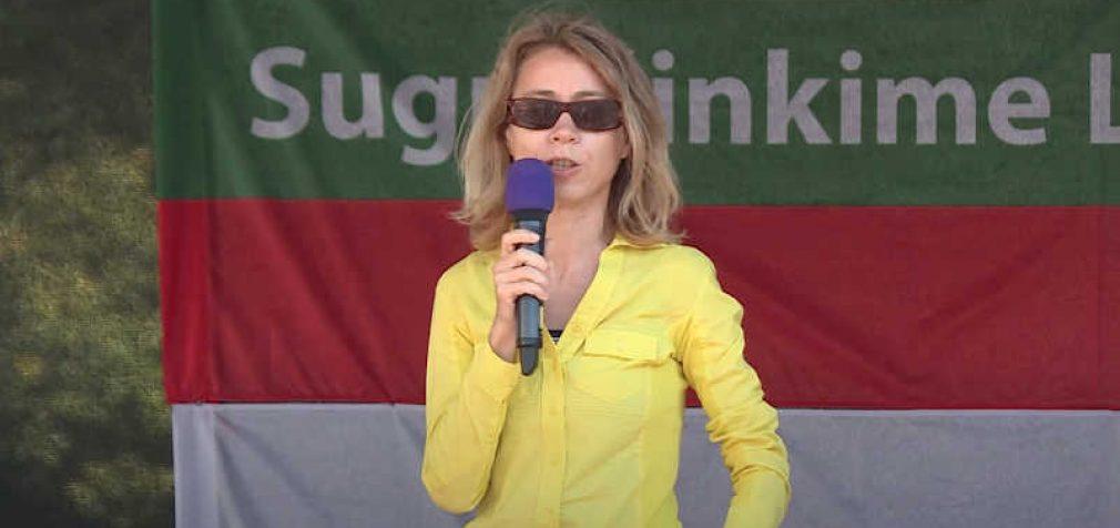 Filosofė Nida Vasiliauskaitė kalba rugsėjo 10 d. Lietuvos Šeimų Sąjūdžio surengtame mitinge (Video)