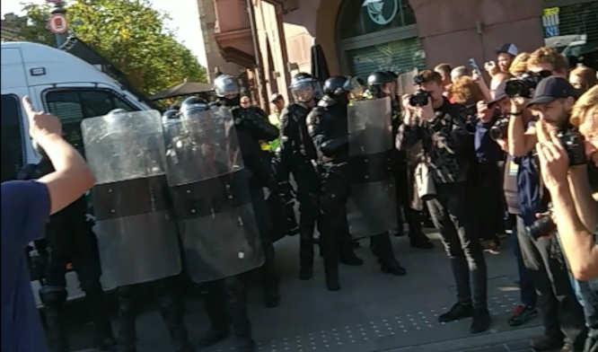 Rengiama provokacija prieš policiją Gedimino prospekte nepavyko