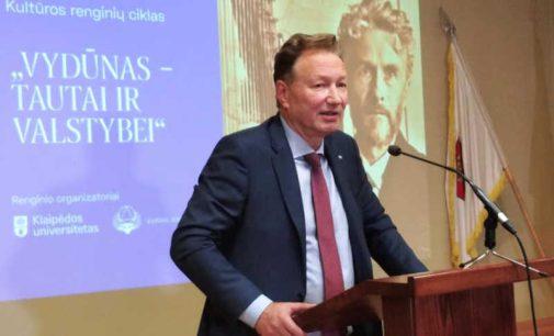 """Prof. Artūras Razbadauskas: """"Vydūno išmintis – Tautos vienybei, o ne priešinimui ir skaldymui"""""""