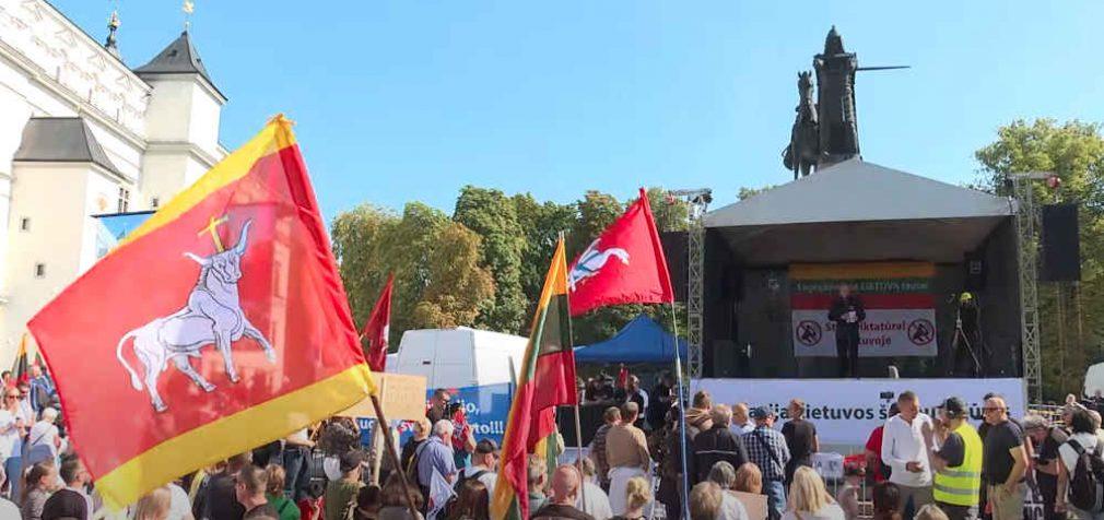 Kunigo Roberto Grigo kalba LŠS surengtame mitinge rugsėjo 10 dieną
