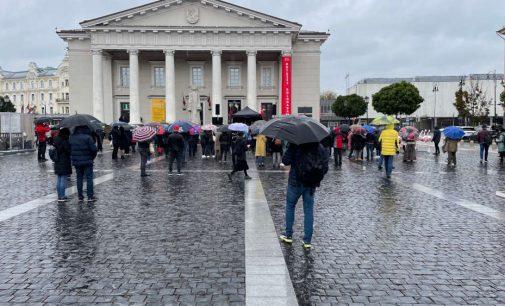 Šeštadienio mitingas prie Vilniaus Rotušės