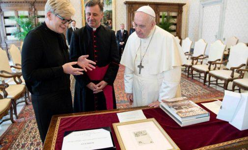 I.Šimonytė susitiko su Popiežiumi Pranciškumi