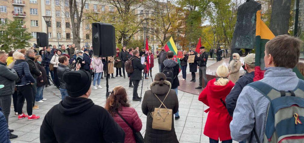 Į Astros Astrauskaitės mitingą prie Kudirkos paminklo žmonių surinko kaip įprastai